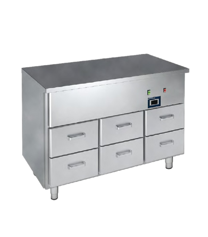 2freeze hot table with the drawers