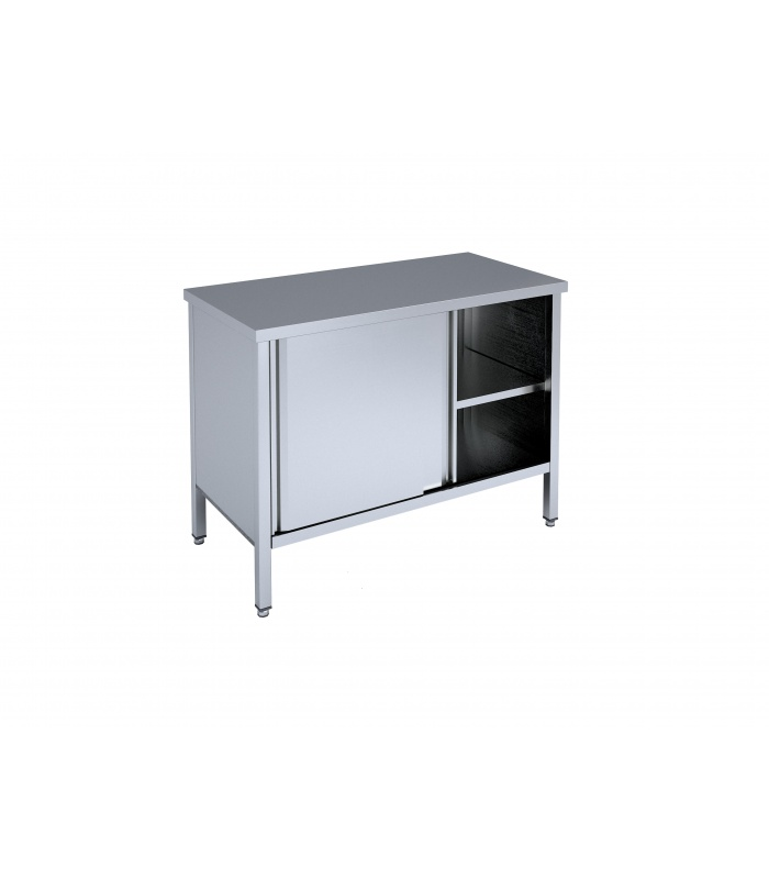 Table with sliding doors