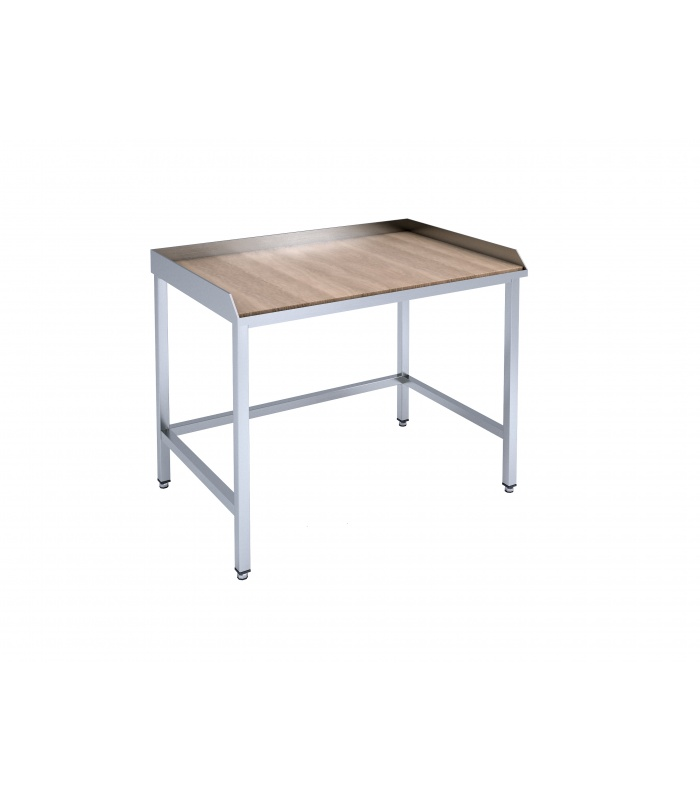 Confectionery table with wooden tabletop