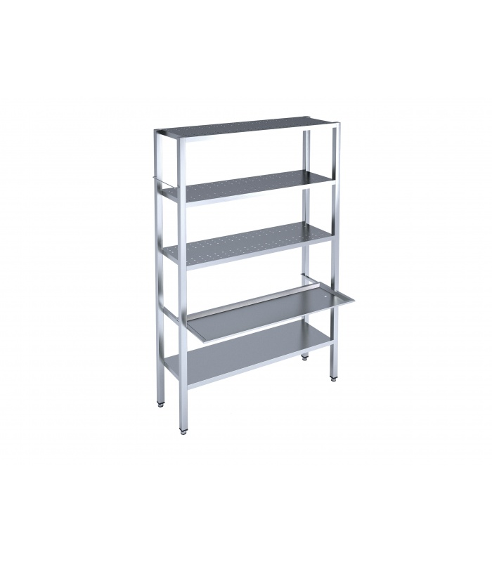 Welded shelving for dishes storing and drying