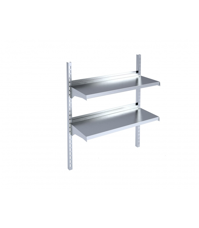 Adjustable wall-mounted shelf