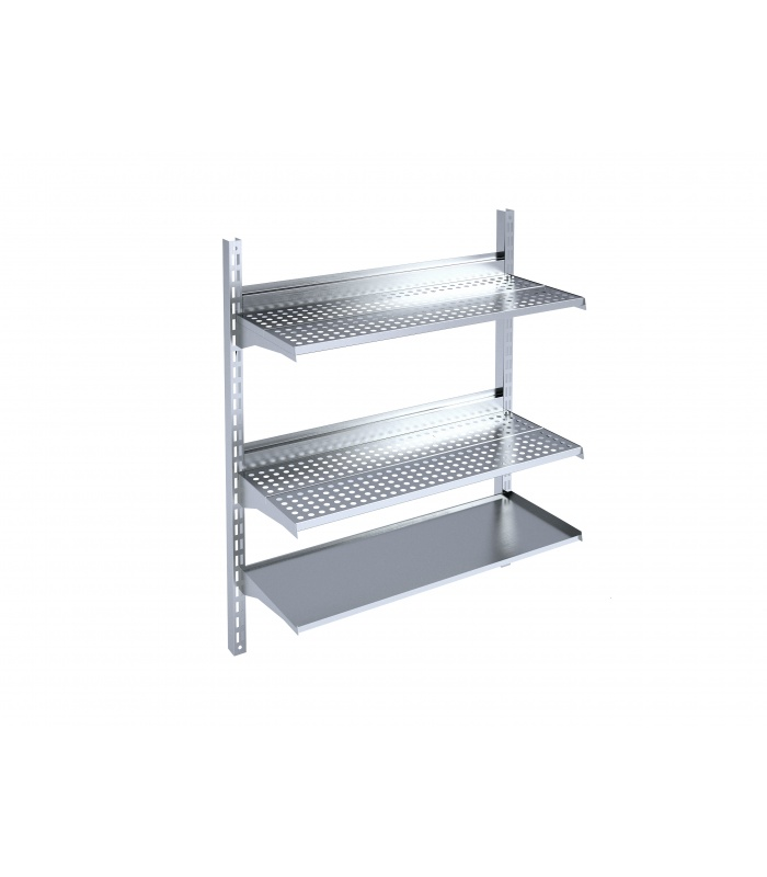 Wall-mounted shelf for dishes drying
