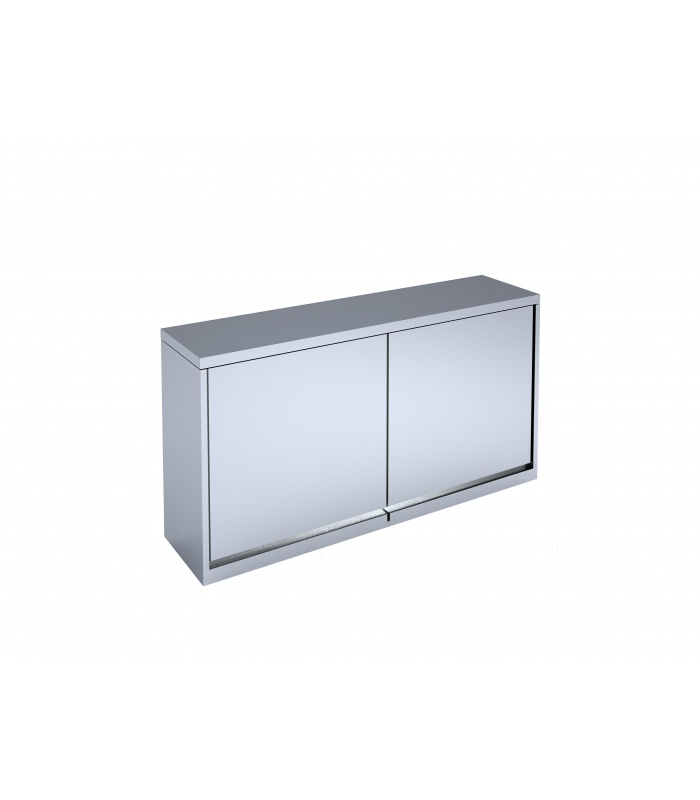 Wall-mounted cabinet with hinged doors