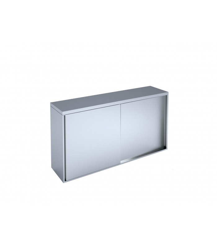 Wall-mounted cabinet with sliding doors
