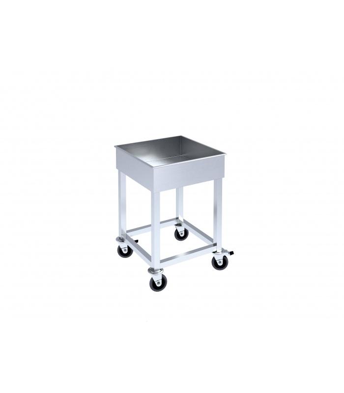 Trolley for dishwashing machine baskets