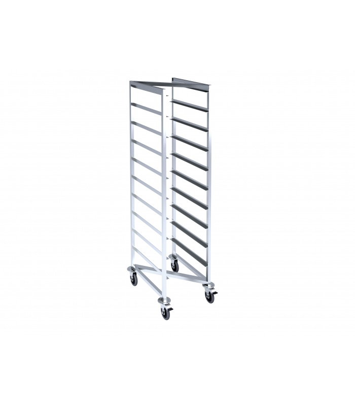 Z-shaped trolley for gastronorms