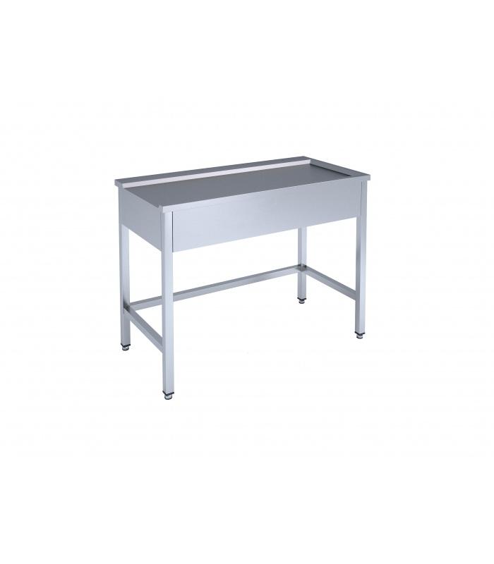 Loading/unloading table for dishwashing machine