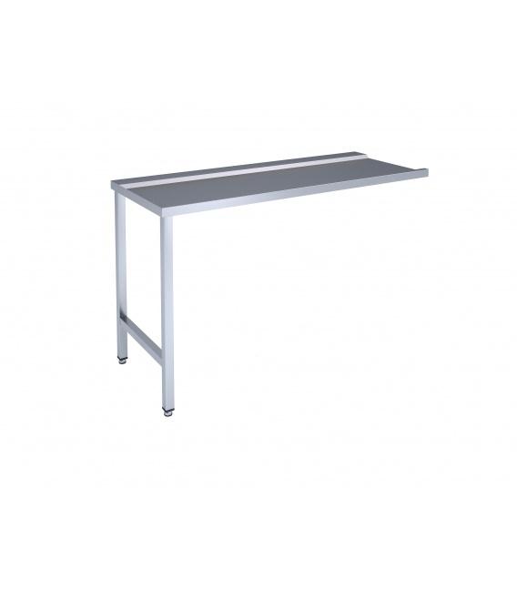 Framed table for dishwashing machine