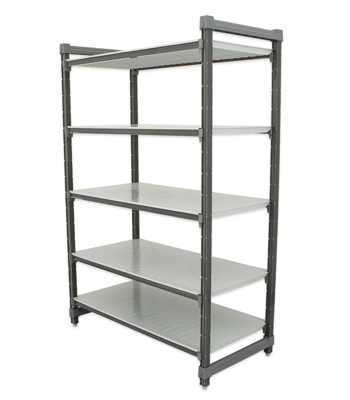Cambro Elements Series Stationary Starter Units with Solid Shelves